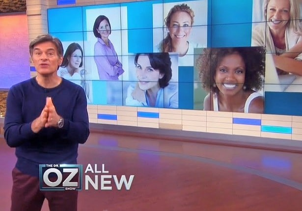 Dr Oz Image From His Show Talking About Anti Aging Creams