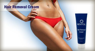 Revitol Hair Removal Cream Female Model Image
